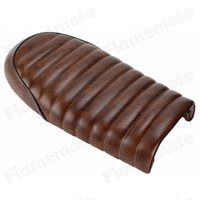 Wholesale Motorcycle Accessories Brown Flat Custom Vintage Saddle Cafe Racer Seat For Honda CB125S CB350 CL350