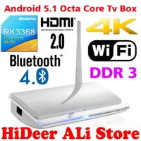 Wholesale 2016 Newest rk3368 octa core tv box android os system tv box support full HD D K solution
