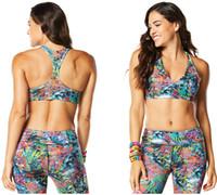 Wholesale Woman Bra Rio Sizzle Bra dance tops woman yoga vest tank racerback blue color