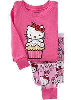 Wholesale 6 set Hello Kitty Kids Sets New Cartoon Baby Home Clothes Pajamas Clothing Sets for Girls Boys Tops Pants