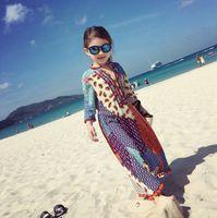 beach wear brands - Thai Style Girls Dresses Baby Kids Clothing Summer Autumn Child Clothes Girls Raglan Priting Embroidery Dress Lovely Beach Dress Wear