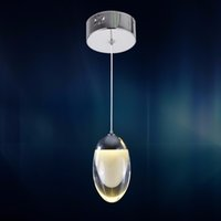 Wholesale Small LED Oval Pendant Light Fixture Lustre Meerosee LED Suspension Hanging Drop Lamp Fitting Guarantee Fast Shipping