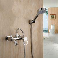 Wholesale Bath Mixer With Shower And Swivel Spout Hot Cold Mixer Valve For Bath Tap Faucet Bathroom Shower Set