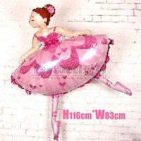 ballerina supplies - Ballerina Dancer Sparkles Ballet foil balloons american girl doll helium balloon globos Party supplies happy birthday decoration