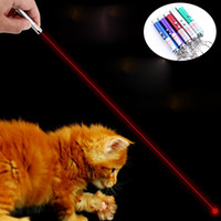 Wholesale 2 in Laser Pointer Pen Flas Mini LED Torch with Keyring Cat Toys Pets Supplies Children Kids Gift Retial Package