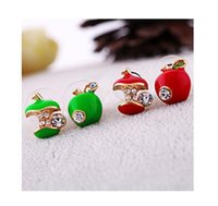 apple earings - iMixBox Limited Rushed Romantic Zinc Alloy Ball Cotton B046 Lovely Women Water Brick for Apple Earings