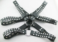 Wholesale Luxury Leather Chest Harnesses for Male Fetish Wear Faux Leather Restraint Straps with Ring