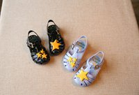 Wholesale Sandals Clogs Boy and Girl s Shoes Children Birthday Gift Kids Casual Shoe Cut Outs Buckle Strap Star Pattern Fast Shipping