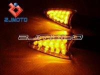 Cheap 2 pcs Motorcycle Amber LED Turn Signal Light Indicators Blinker Flashers For YAMAHA YZF R1 R6 FZ1 FZ6 Fazer XJ6 YBR 125 250
