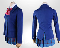Wholesale Japanese Anime Love Live Cosplay Costumes Halloween Party Lovelive School Uniforms Blazer Skirt shirt Neck tie