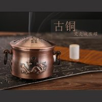 ai hand - Copper moxibustion tank Moxa box moxibustion box Health moxibustion tank Ai chu moxa moxibustion box Meridian Scraping Massage Natural