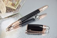 Wholesale Copy Luxury Pen StarWalker MB Pen Rose Golden Clip and Pure Black Roller Ball Pen No Box