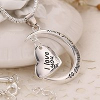 Wholesale 2016 New Arrival Positive Energy alex and ani I Love U With Sun Moon Pendant Necklace Romantic Style