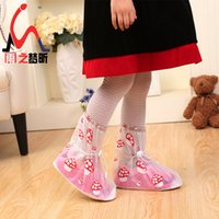 Wholesale The new children s brand children s boots overshoes cartoon kids waterproof shoe cover factory