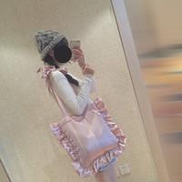 anime handbags - New DIY Women Pudding Color Handbag Flouncing Lolita Shoulder Bags Japan Anime Cosplay Maid Hand Bags