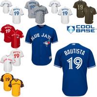 american league baseball - Yellow white blue grey Jose Bautista Authentic Jersey Youth Toronto Blue Jays All Star American League BP Cool Base