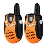 Wholesale 2PCS Mini Walkie Talkies Portable Way Radio Radios Transceiver PMR446 FRS GMRS LCD Orange Toy Walkie Talkie