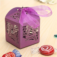 Wholesale Best Price Paperboard Luxury Eiffel Tower Candy Boxes Wedding Party Favor Ribbon Gift x x cm