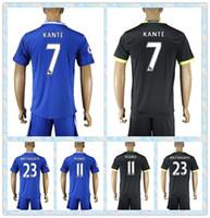 Wholesale Fast Uniforms Kit Soccer Jersey Chelsea BATSHUAYI PEDRO KANTE Hazard Fabregas Blue Black Away Home Jerseys