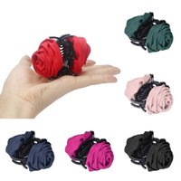 Wholesale Best Deal New Women Hair Accessory Women Roses Barrette Hair Clip Hair Pin Claw Comb Hair Fork Gift PC