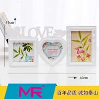 mounted photo frames - 6inch Family photo frame EU fashionable style multi size ABS eco friendly material picture frame can be wall mounted or stand alone deco