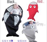 Wholesale shark sleeping bag Newborns sleeping bag Winter Strollers Bed Swaddle Blanket Wrap cute Bedding baby sleeping bag