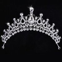 beauty drops styles - Stunning Crystal Bridal Cown New Style Beauty Pageant Big Royal Crown Factory Best Price Hair Accessories Head Tiaras Prom Party Headpieces