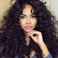Wholesale 180 Density Full Lace Human Hair Wigs Malaysian Hair Deep Curly Glueless Full Lace Wig Lace Front Wigs For Black Women