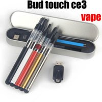 battery tin - OIL Atomizer Pen Kit Tin Packing Bud Touch Vape electronics pen Thread CBD Oil Cartridge Bud Touch Battery Starter Kit China direct