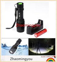 Wholesale LED Flashlight ZOOM W CREE LM Waterproof Lanterna Modes Zoomable Torch Linterna Charger Rechargeable Battery