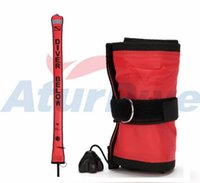 Wholesale New arrival Diving Surface Marker Buoy Safety Sausage float SCUBA SMB red color Mx18cm