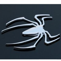 auto mirror parts - On sale quality metal spider sticker car styling DIY accessories exterior auto parts decoration for body tail