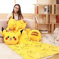 Wholesale 2017 SF EXPRESS SEND Poke Plush Blanket Cartoon Kids Throw Blanket Summer Airconditioner Thin Blanket for Childrens Adults