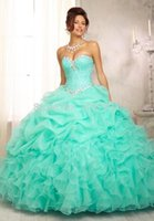 Wholesale Cheap Quinceanera Dresses Crystal Sweetheart Gorgeous Floor Length Ball Gown Vestidos De Years free Petticoat