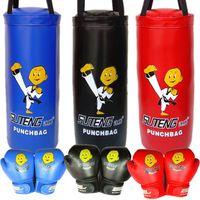 Wholesale SUTEN Cartoon Children Boxing Sandbag Gloves Set Children Sanda Boxing Fighting Set Kids Protective Gear