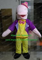 beautiful porpoises - Beautiful Pink Dolphin Porpoise Sea Hog Delphinids Mascot Costume Cartoon Character Mascotte Adult Big Mouth Red Hat NO FS