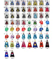 Wholesale 86 Styles DHL Super Hero Capes Mask Set Boy Costume For Children Halloween Party Double Side Costumes Captain Capes Cloaks Star Wars Cape
