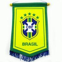america exchange - SPORT TIME Football fan Brazilian copa America tournament souvenirs major team five flag to exchange them CM