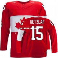 Cheap Retro throwback #15 RYAN GETZLAF Team Canada Jersey OLYMPIC HOCKEY Fast free shipping Customize any size player name number