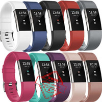 adjustable strap clasp - For Fitbit Charge2 charge Dotdot Adjustable Silicone Straps Bands Fitness Replacement Accessories Wrist Band With Metal Clasp
