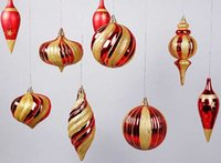 Wholesale Christmas Design Items - Great Gift Pack Golden Pumpkin Ornament Hand Painted Star Cone Balls 2 Design Mixture Variety Items