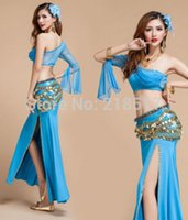 belly dance fashion - belly dance color red pink black blue purple yellow sexy fashion top dress belt professional costume