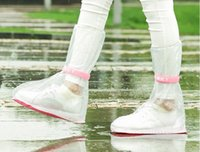 Wholesale reusable Rain shoes cover Outdoor Long Style Raincoat Set colors Cycle Rain Boots Overshoes Slip resistant Overshoes Travel Essentials