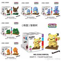 Wholesale PokéMon Go Minifigures Pocket Monster Classic Toys Building Blocks Sets Poke Mon Squirtle Charmander Pikachu Bulbasaur Model Bricks