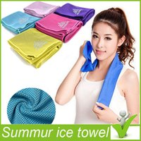 Wholesale Cold Towel Summer Sports Ice Cooling Towel Cool Yarn Hypothermia Cool Towel cm for Sports Children Adult Colors
