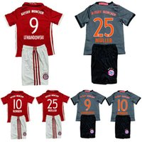 Wholesale 16 Bayern Munich kids soccer Jersey Kits Home away RD VIDAL COATA LEWANDOWSKI MULLER ROBBEN BOATENG ALABA child Football Shirt