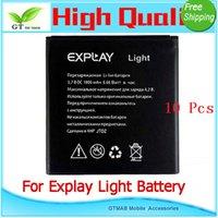 battery test light - 10pcs good testing Full Power Safe High Quality Mobile phone battery For Explay LIGHT battery