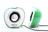 apple computer cheap - USB Portable APPLE mini speaker HIGH voice cheap speaker support WIFI Radio p0645
