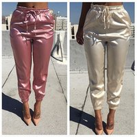 Wholesale Womens Slim High Waist Summer trousers High Waist Elastic Pants Ladies Casual Trousers Fashion Skinny Pencil Pants pink