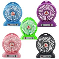 battery powered portable fans - Portable Mobile Li ion Battery Fan Mini Fan Five Color with LED Lamp Cell Phone Charger Power Bank Function